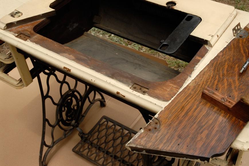 treadle cabinet restoration 3