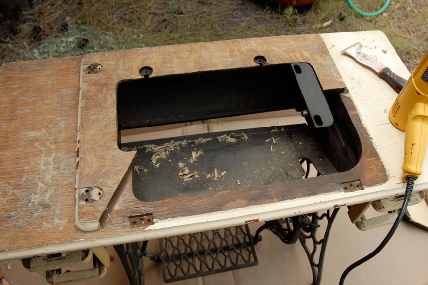 treadle cabinet restoration 5