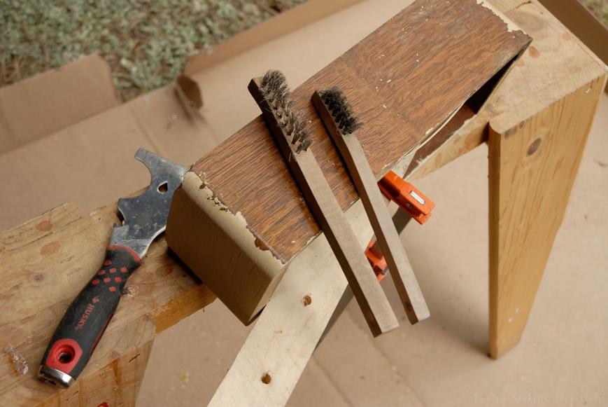 treadle cabinet restoration 6