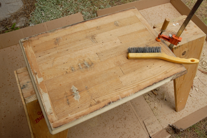 treadle cabinet restoration 7