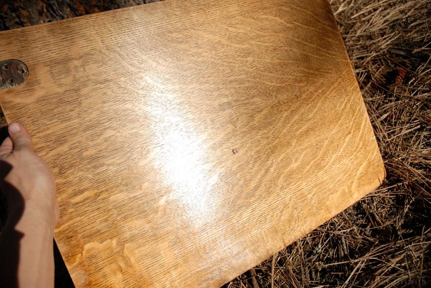 treadle cabinet restoration 9