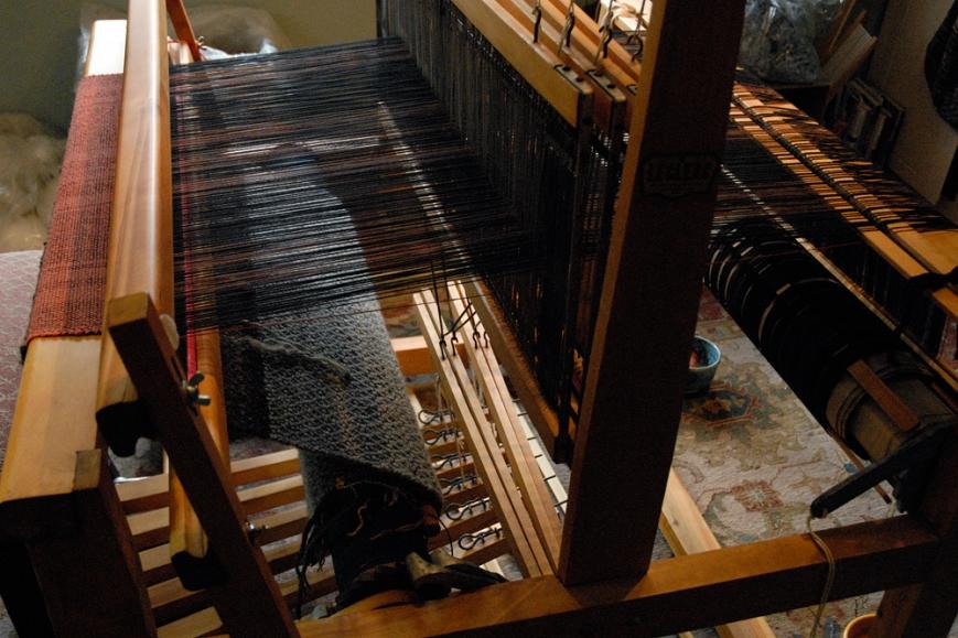 sw rug on loom