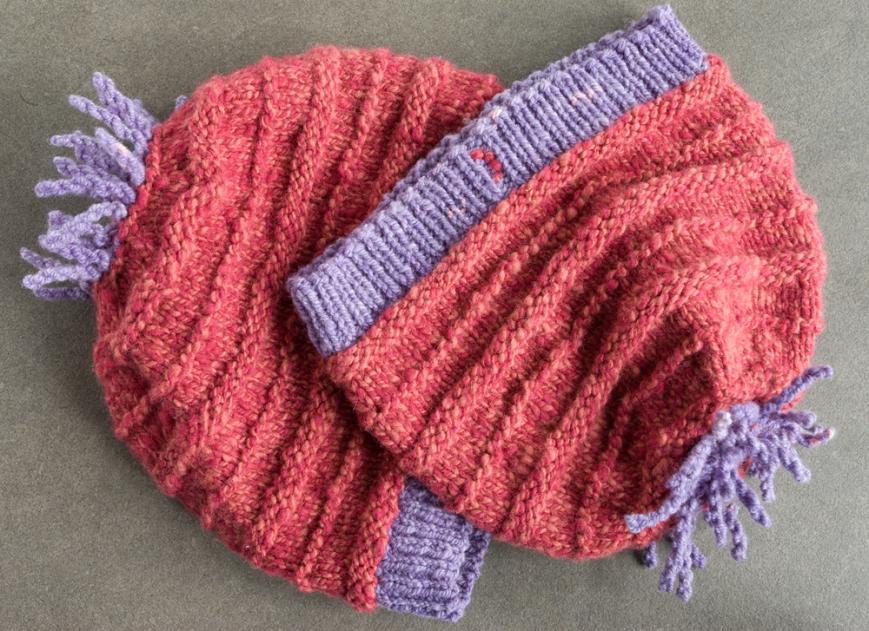 pink handspun hats 1