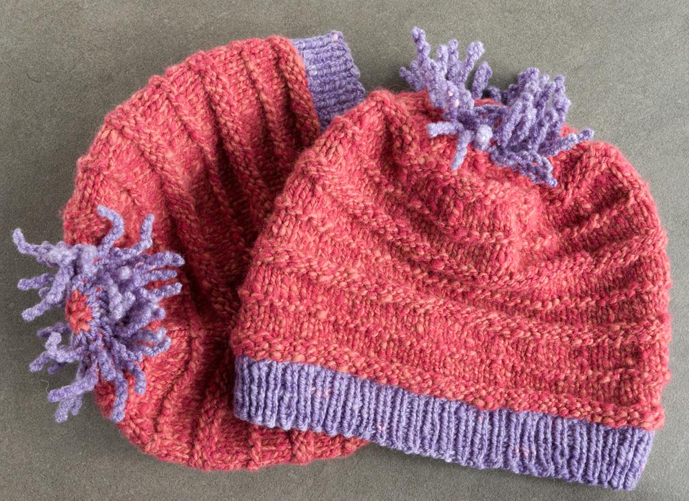 pink handspun hats 2