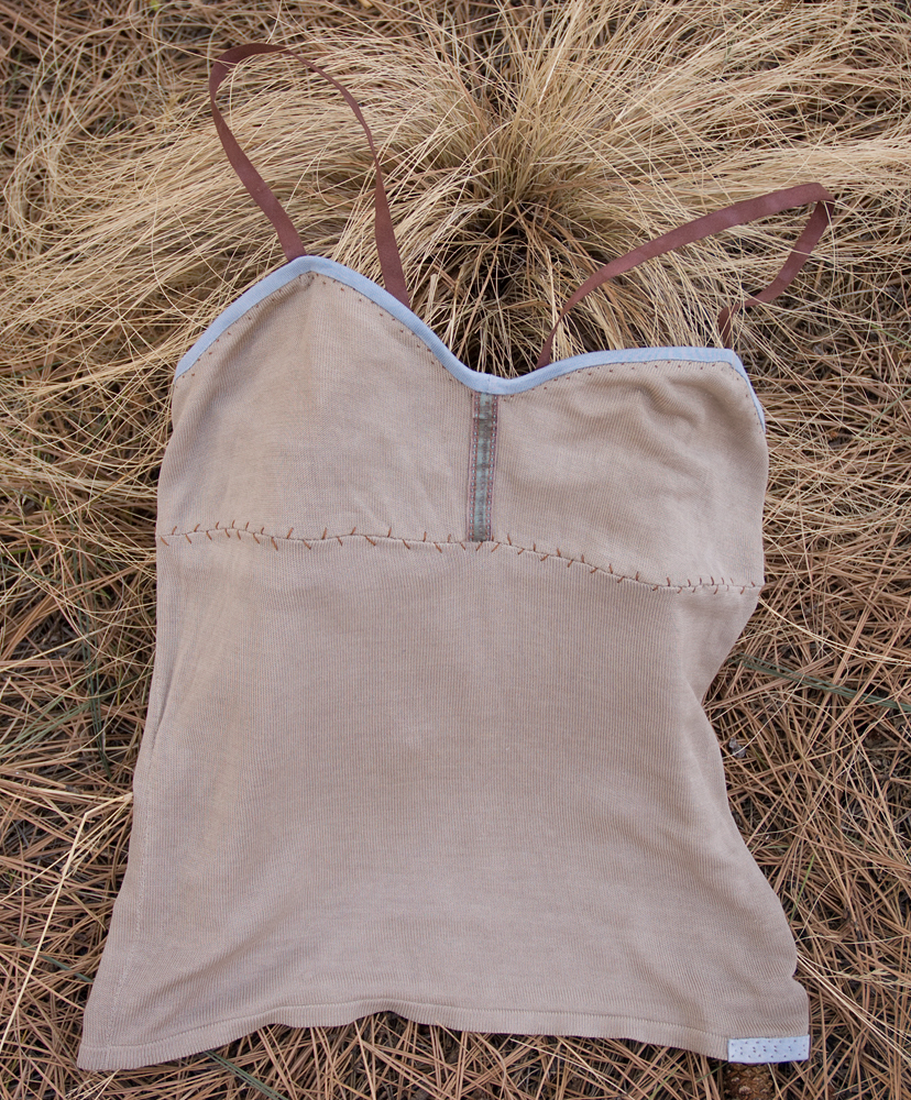 old silk cami after