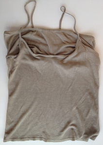 old silk cami before