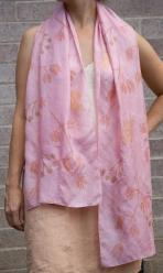 cochineal silk scarf